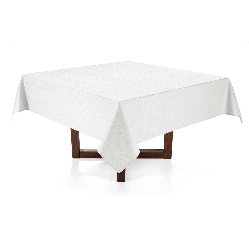 Toalha de mesa Quadrada Karsten 8 lugares Sempre Limpa Faenza Branco