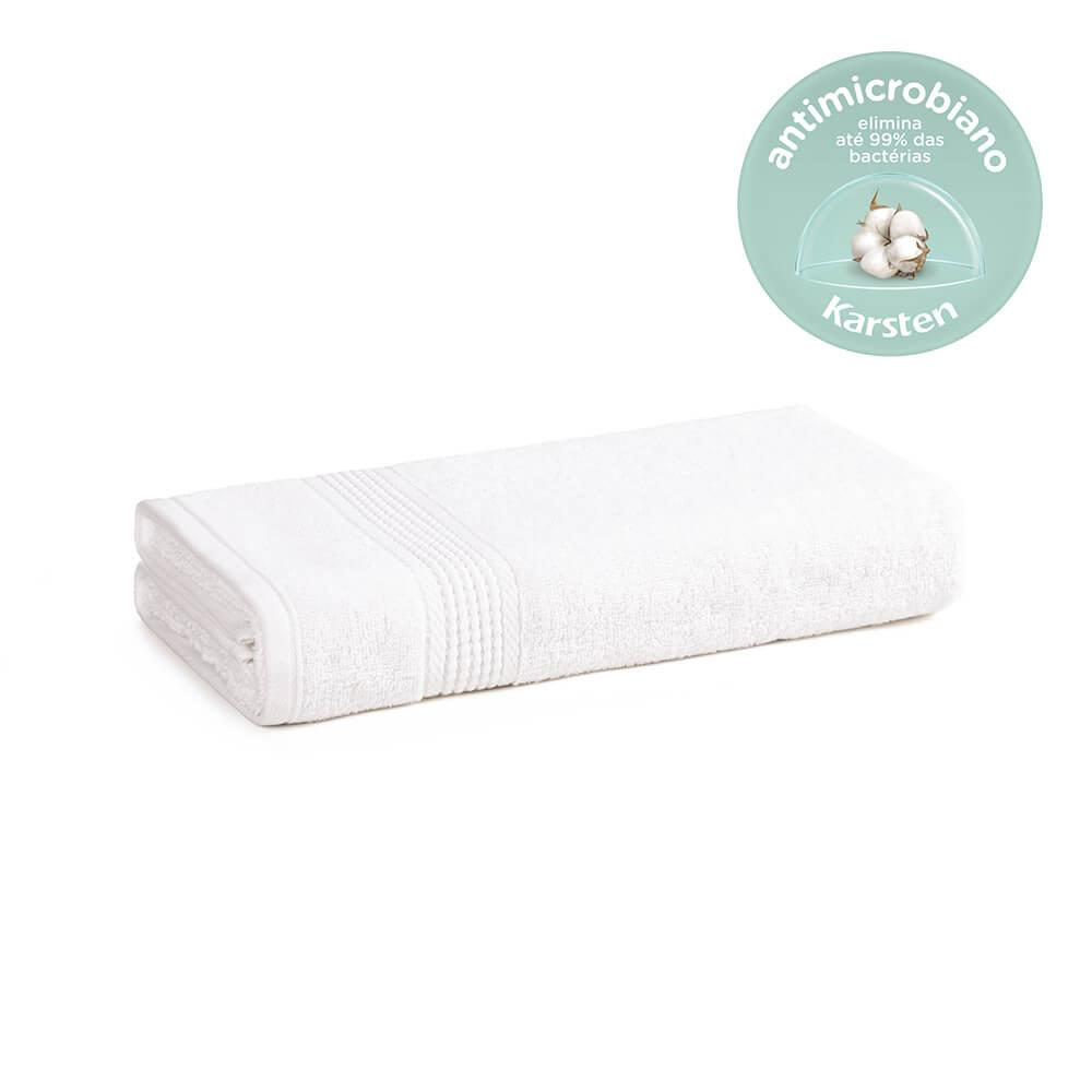Toalha de Rosto Karsten Antimicrobiana Fio Penteado Hera Branca