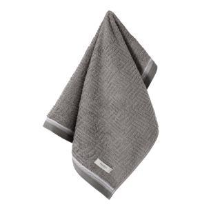 Toalha de Rosto Karsten Fio Penteado Diniz Cinza Steel/ Branco