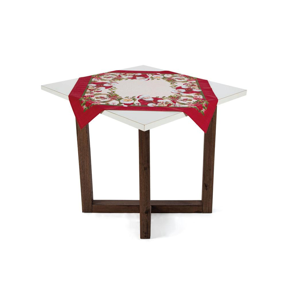 Toalha de mesa de Natal Karsten Quadrada de Chá Bons Amigos