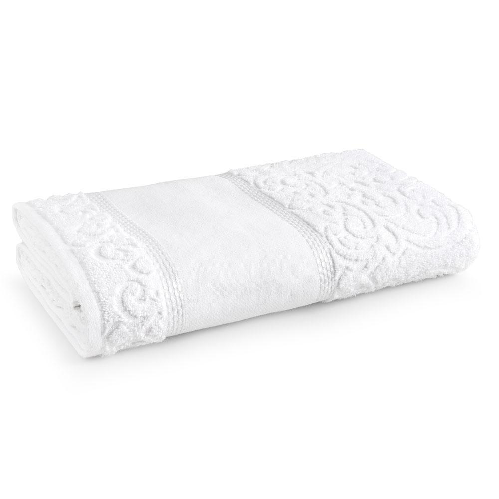 Toalha de Rosto para Pintar Karsten Melina Branco