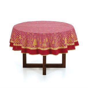 Toalha de mesa Redonda Karsten 4 Lugares Decoração de Natal