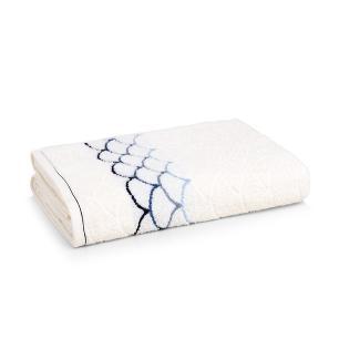 Toalha Banhão Karsten Fio Cardado Muriel Ivory/ Azul
