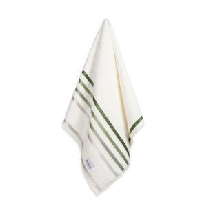 Toalha de Rosto Karsten Fio Penteado Lumina Ivory/Verde