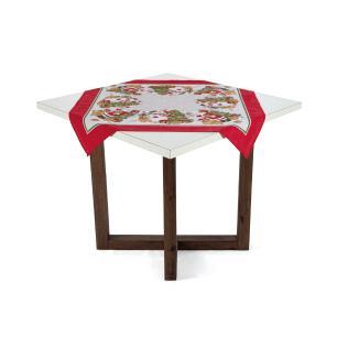 Toalha de mesa de Natal Karsten Quadrada de Chá Vila de Natal
