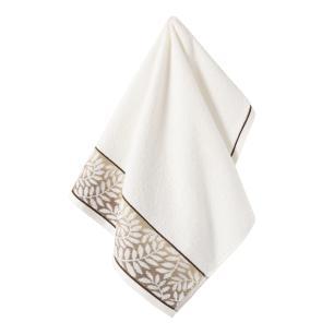 Toalha de Rosto Karsten Fio Cardado Marsele Ivory/ Marrom