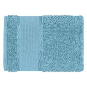 Toalha de Rosto Para Bordar Karsten Melina II Azul Caribe