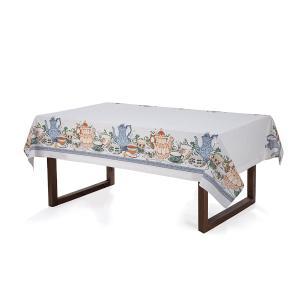 Toalha de mesa Retangular Karsten 8 lugares Limpa Fácil Chá da Tarde