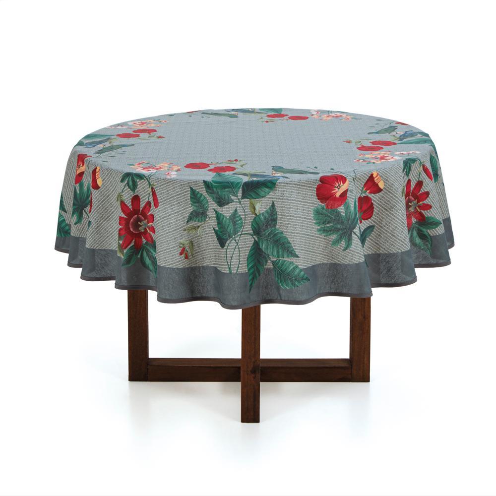 Toalha de mesa Redonda Karsten 4 lugares Dia a Dia Blenda