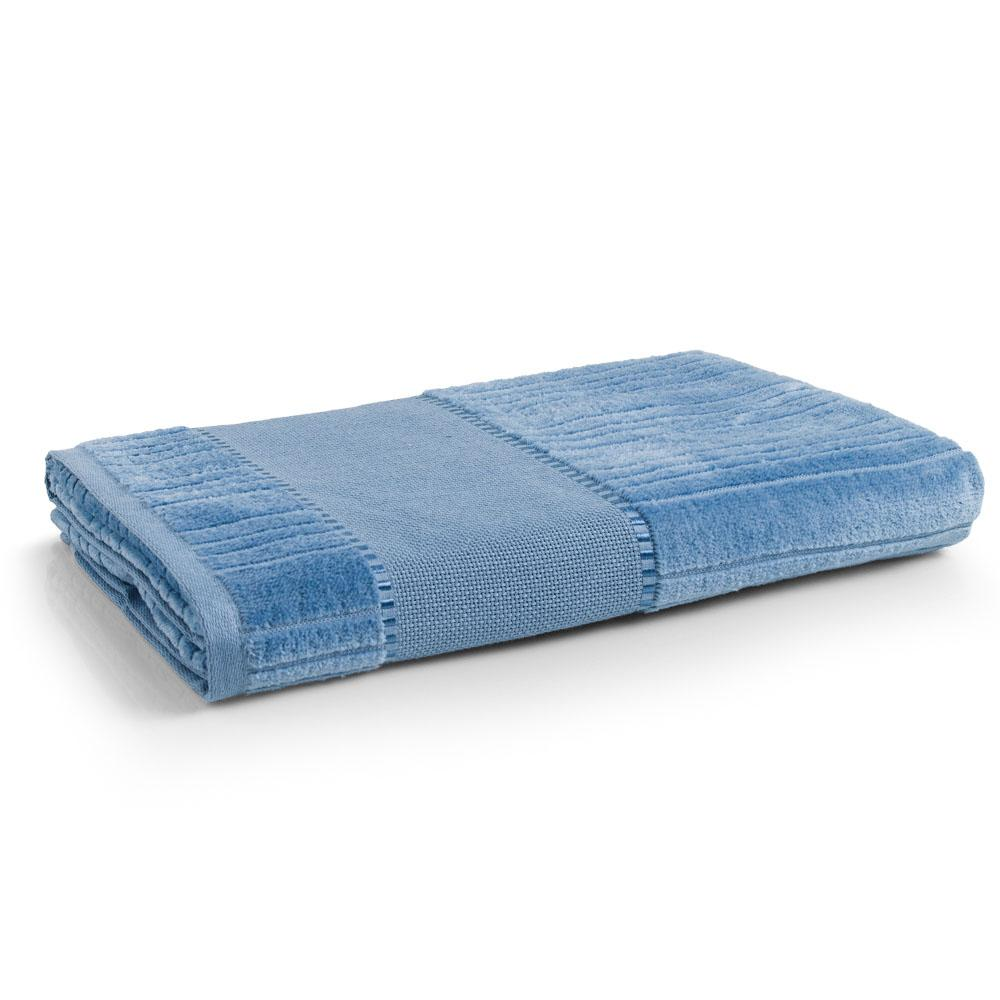 Toalha de Banho Para Bordar Karsten Stella Azul Crepúsculo