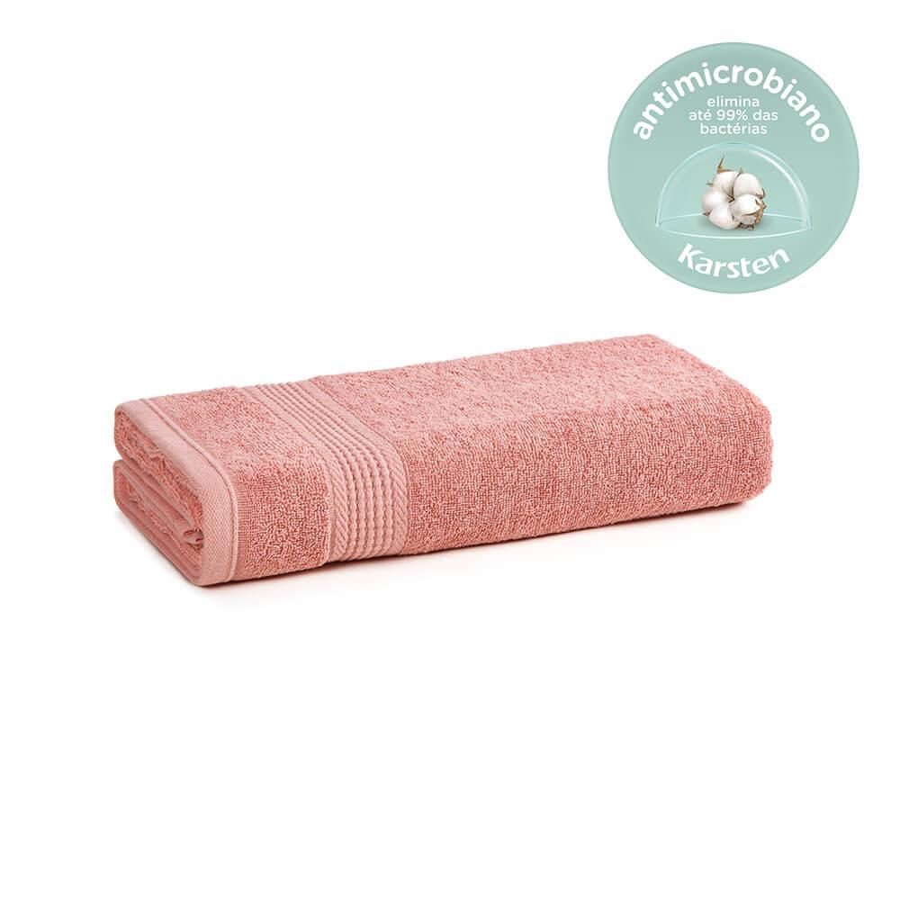 Toalha de Banho Karsten Antimicrobiana Fio Penteado Hera Rosa