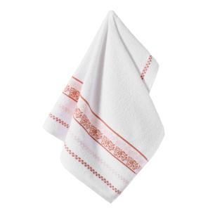 Toalha de Rosto Karsten Fio Cardado Clarissa Branco/ Pink