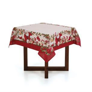 Toalha de mesa de Natal Quadrada Karsten 4 Lugares Bons Amigos