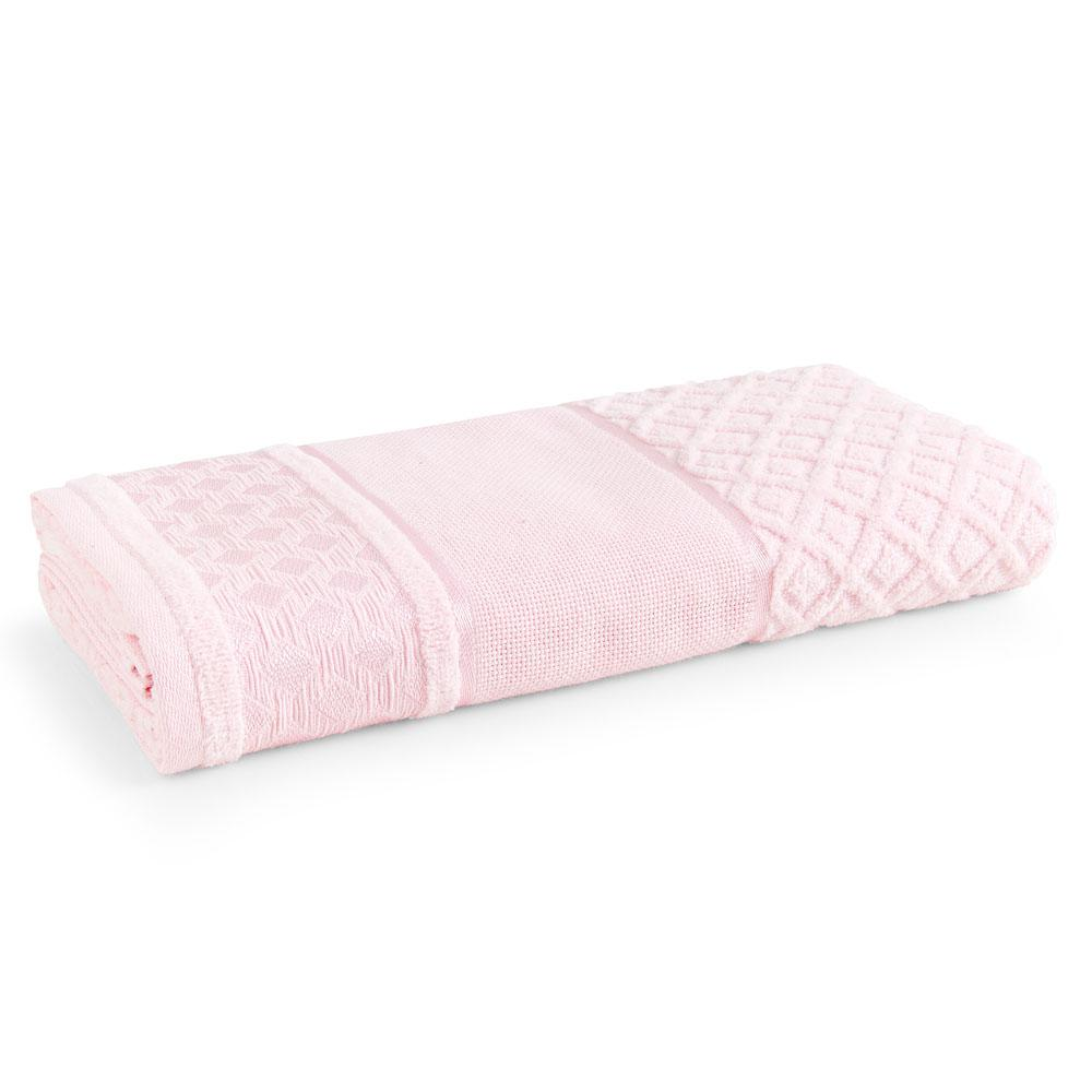 Toalha de Rosto para Bordar Karsten Lince Rosa Quartzo