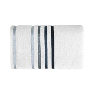 Toalha de Banho Karsten Fio Penteado Lumina Branco/Azul
