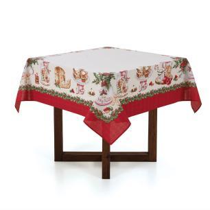 Toalha de mesa de Natal Quadrada Karsten 4 Lugares Segredos de Receita