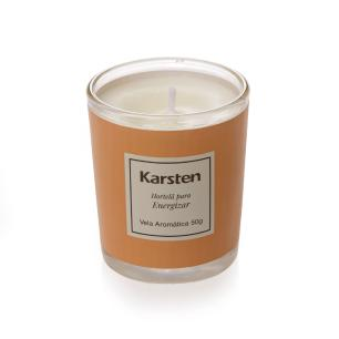 Kit Velas Perfumadas Karsten Aromaterapia Jasmin, Hortelã e Laranja 150g