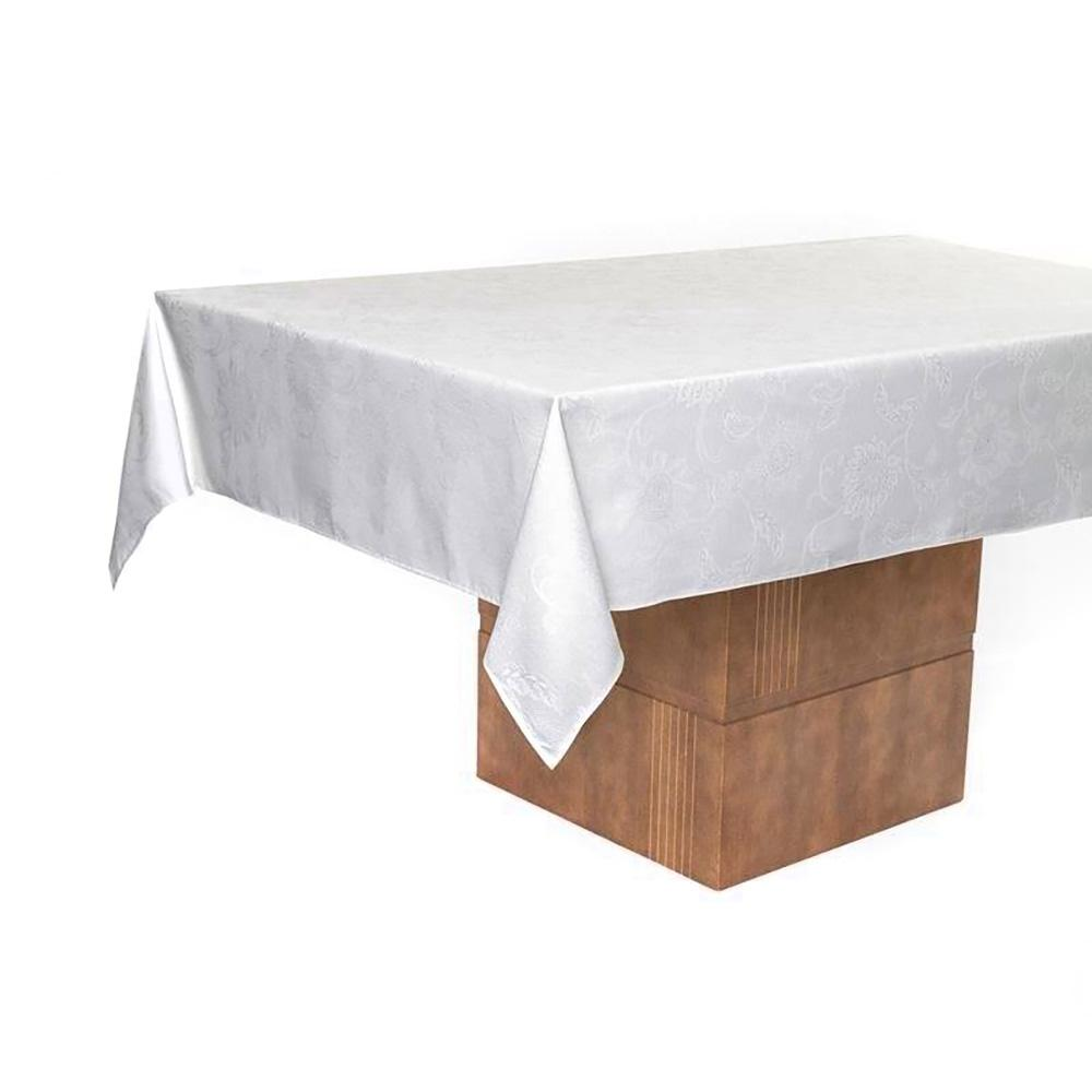 Toalha de mesa Retangular Karsten 6 lugares Celebration Branca