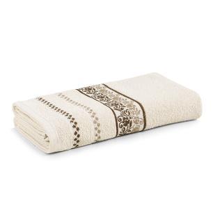 Toalha de Banho Karsten Fio Cardado Clarissa Bege Bone/ Marrom