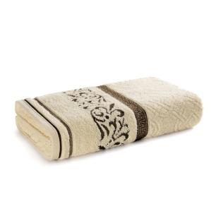 Toalha de Banho Karsten Fio Penteado Núbia Natural/Marrom