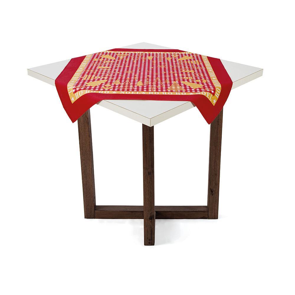 Toalha de mesa Karsten Quadrada de Chá Decoração de Natal