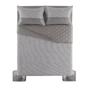Cobre Leito Casal Karsten com 2 Porta Travesseiros 270 Fios Cetim Vitra
