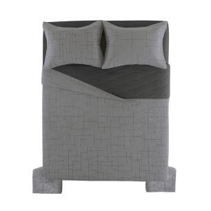 Cobre Leito Casal Karsten com 2 Porta Travesseiros 150 Fios Salles