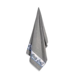 Toalha de Banho Infantil Fio Cardado Karsten Aventura Cinza Steel