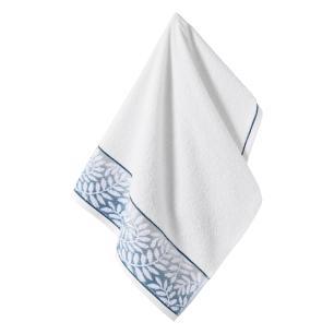Toalha de Rosto Karsten Fio Cardado Marsele Branco/ Azul