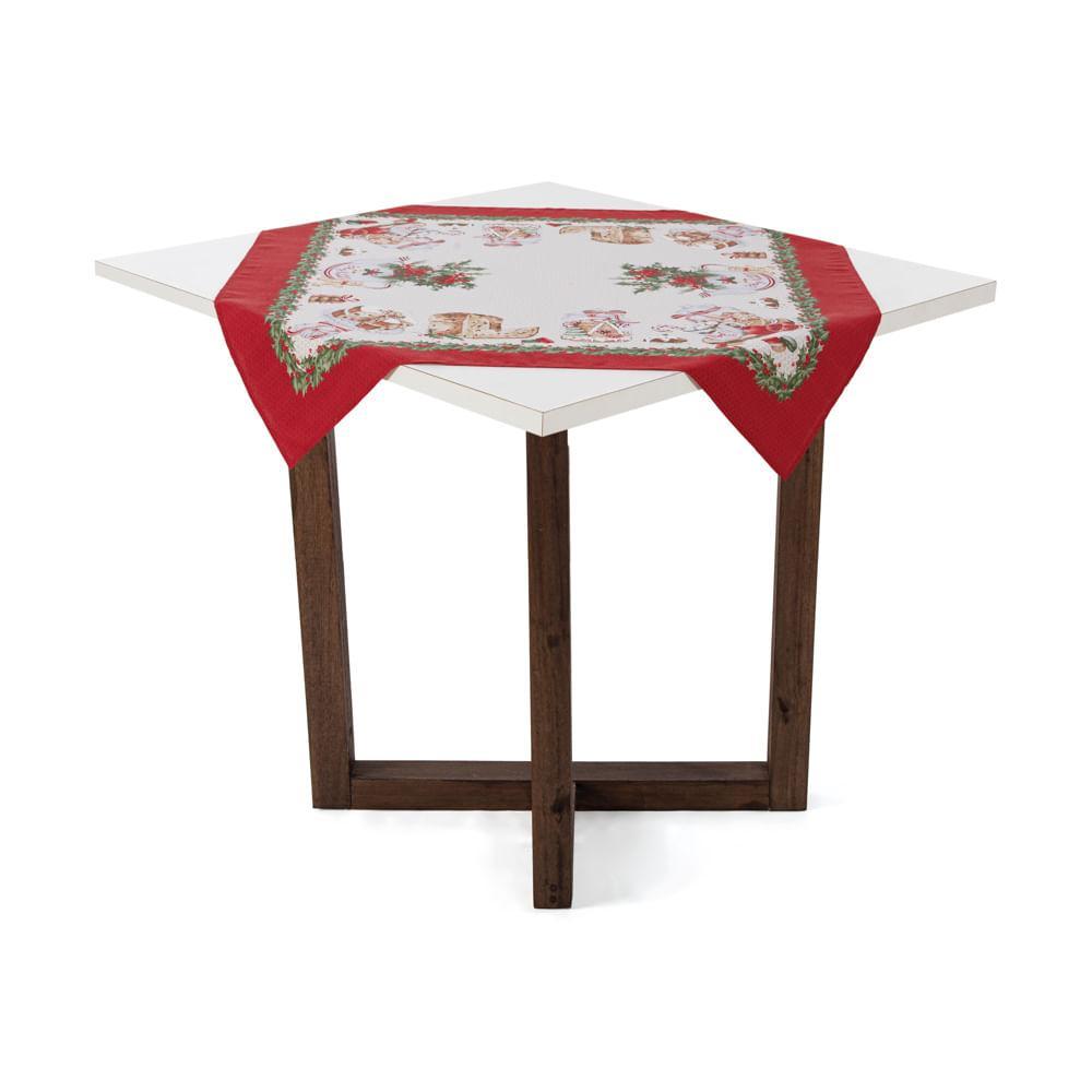Toalha de mesa de Natal Karsten Quadrada de Chá Segredos de Receita