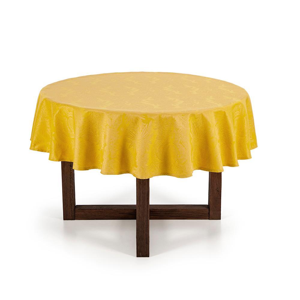 Toalha de mesa Redonda Karsten 6 Lugares Sempre Limpa Tropical Calêndula