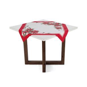 Toalha de mesa Karsten Quadrada de Chá Milagres de Natal