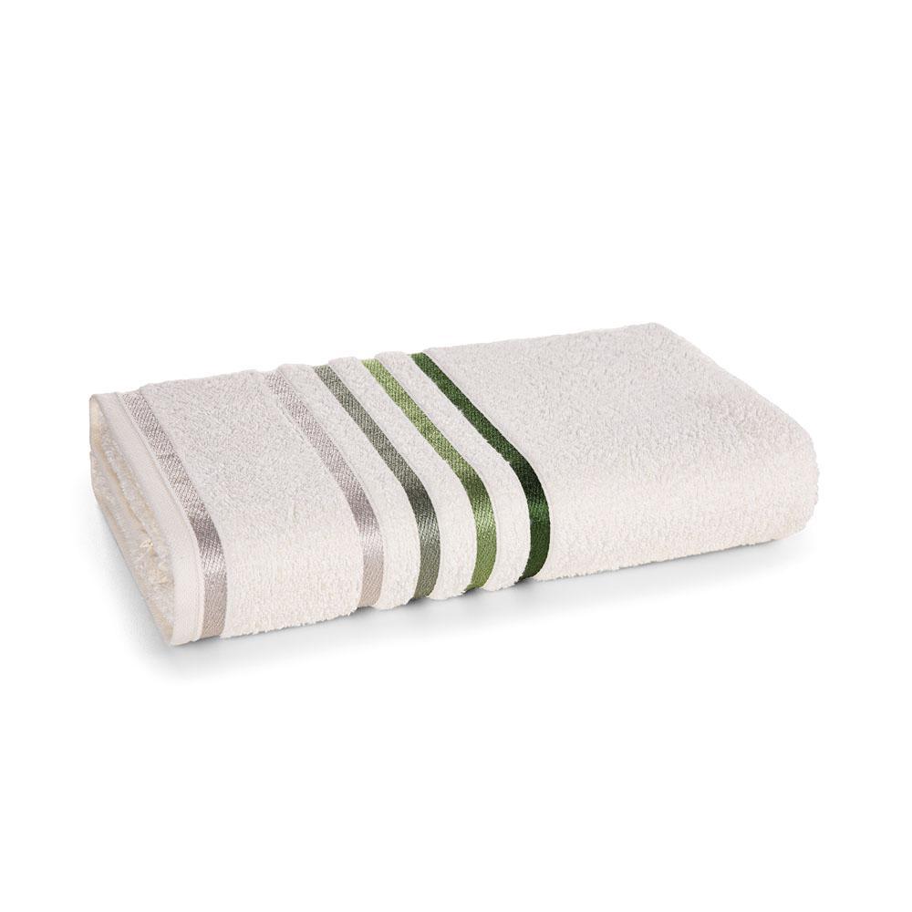 Toalha Banhão Karsten Fio Penteado Lumina Ivory/Verde
