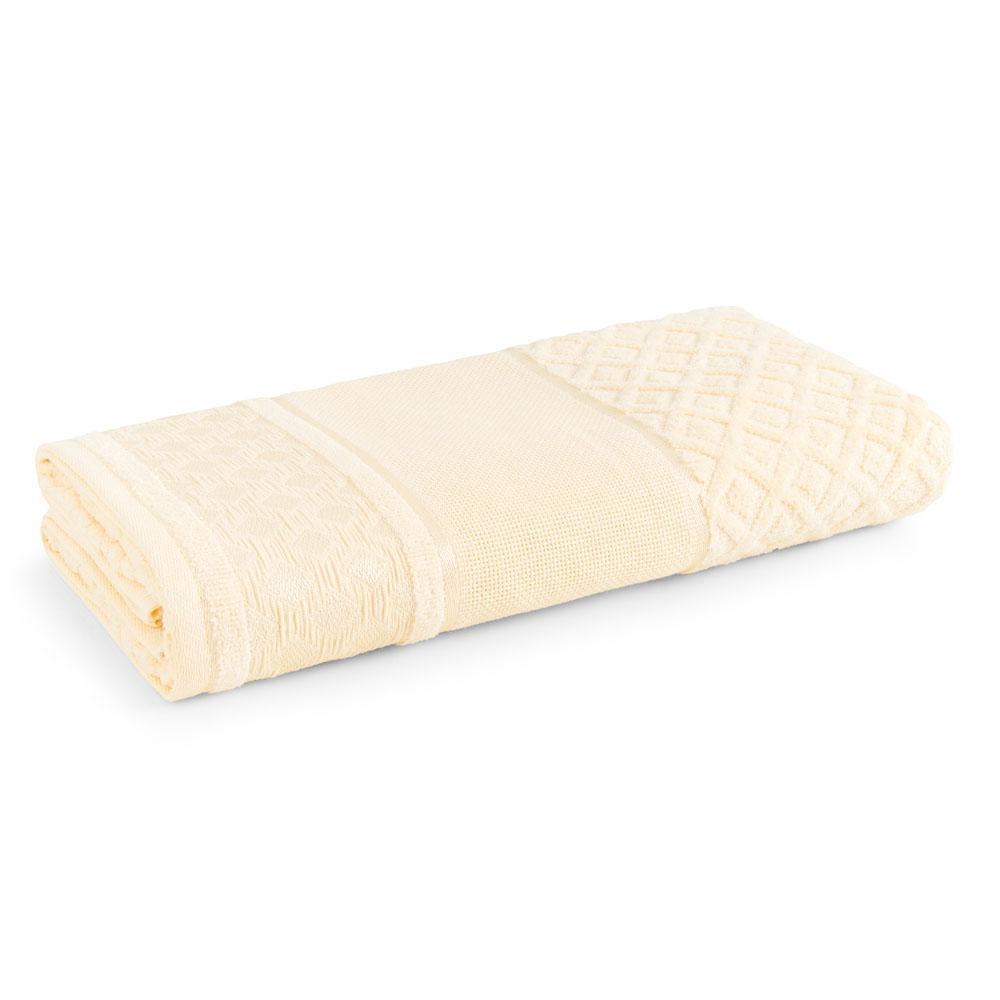 Toalha de Banho para Bordar Karsten Lince Amarelo
