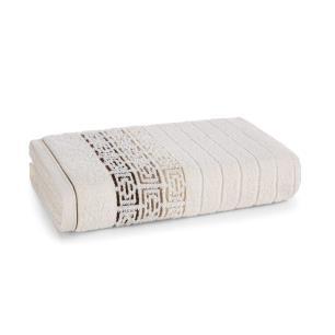 Toalha de Banho Karsten Fio Penteado Barcelos Ivory/Marrom