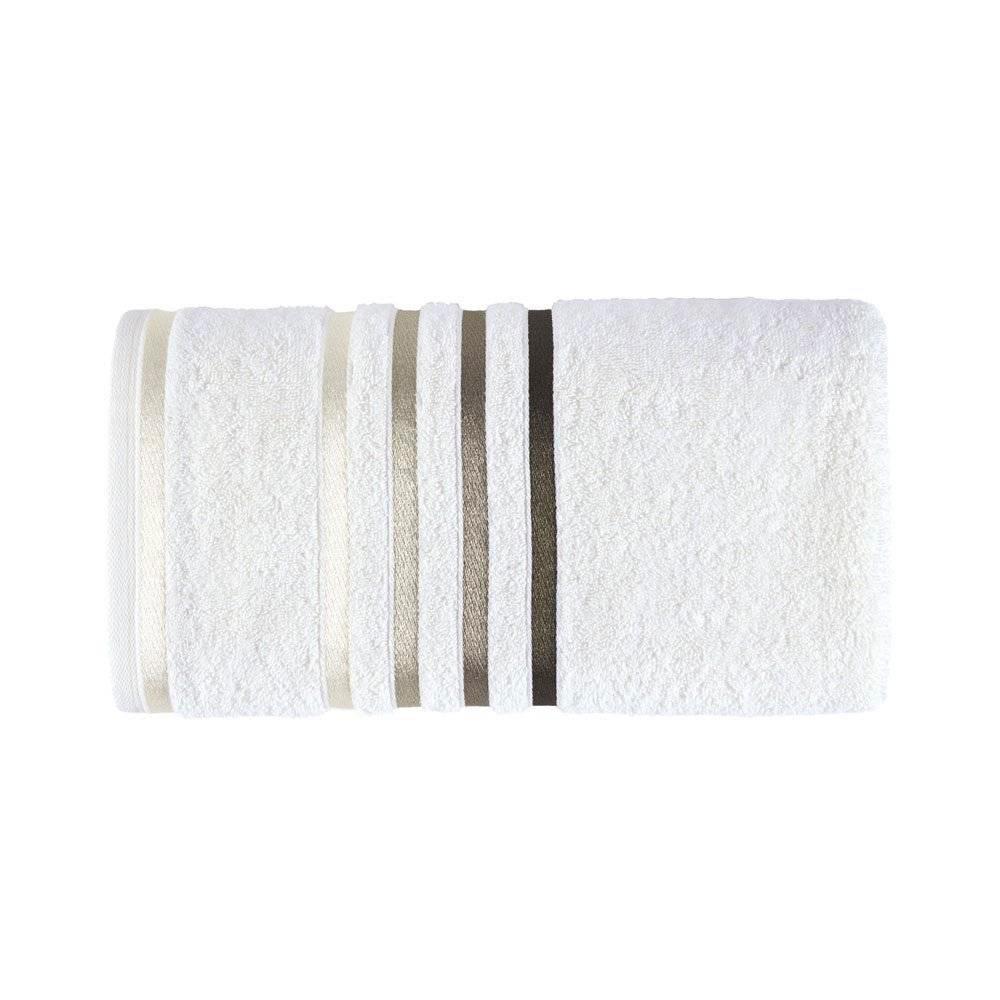 Toalha de Lavabo/Visita Fio Penteado Lumina Branco/Marrom