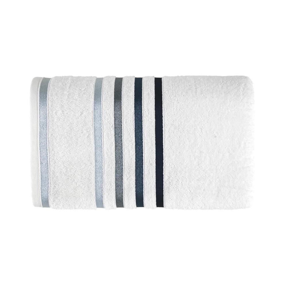 Toalha Banhão Karsten Fio Penteado Lumina Branco/Azul