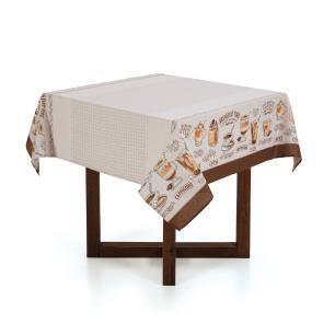 Toalha de mesa Quadrada Karsten 4 lugares Dia a Dia Café Gourmet