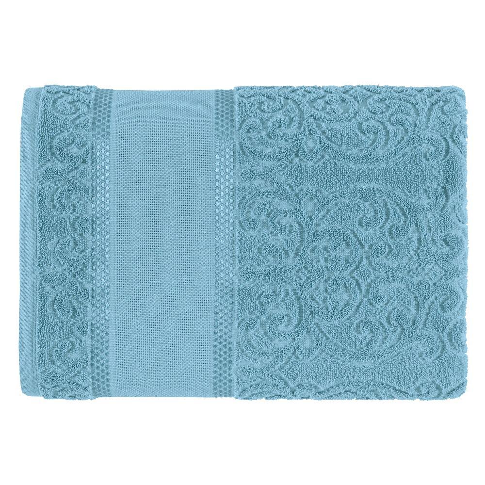 Toalha de Banho Para Bordar Karsten Melina II Azul Caribe