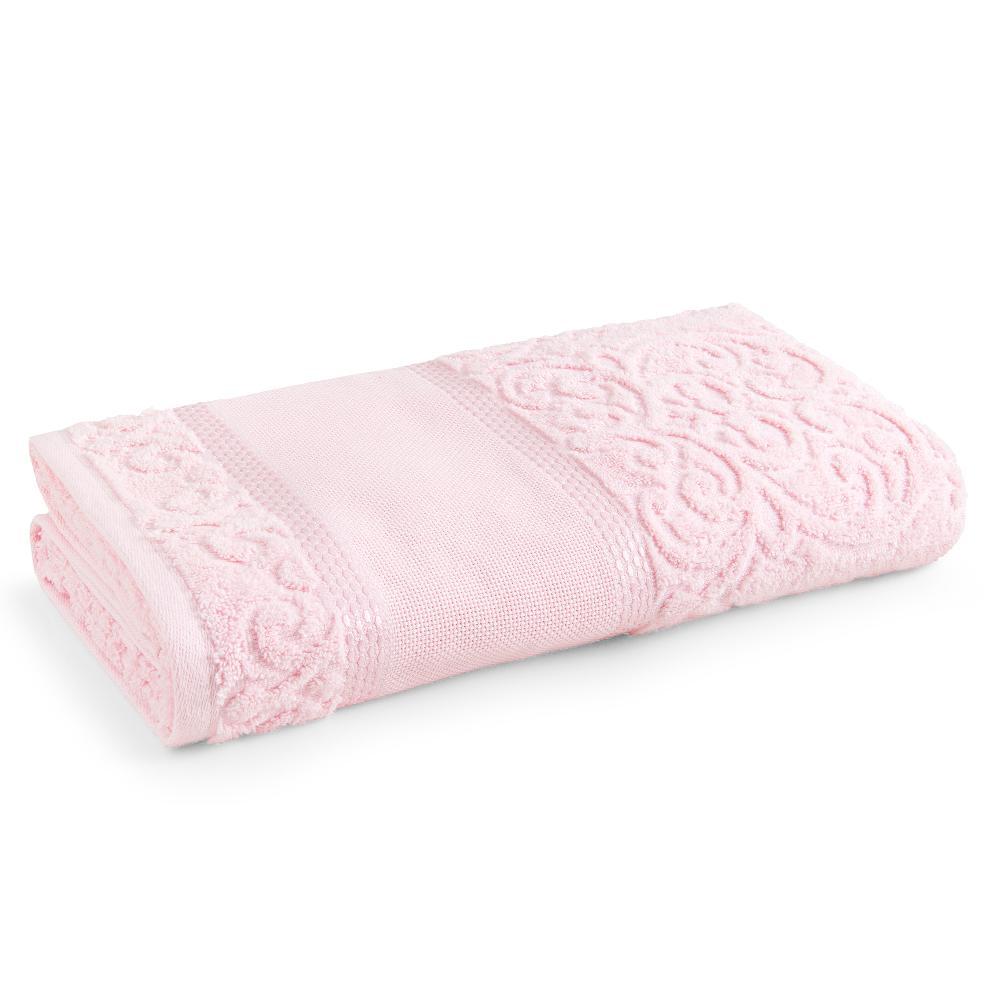 Toalha de Rosto para Bordar Karsten Melina II Rosa Quartzo