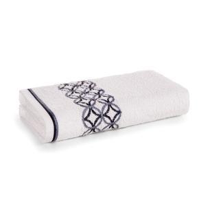 Toalha de Rosto Karsten Fio Cardado Nardin Branco/ Cinza/ Preto