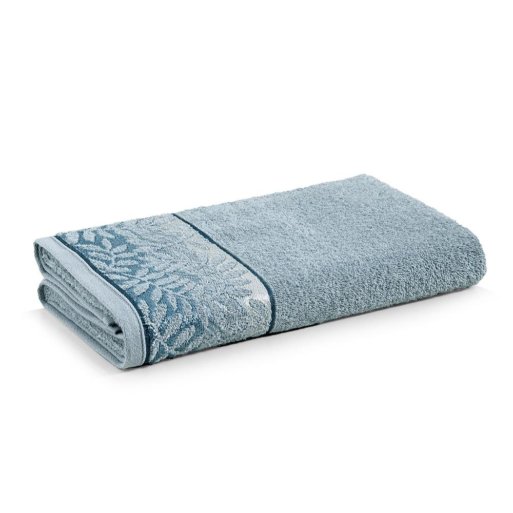 Toalha de Banho Karsten Fio Cardado Marsele Verde Miragem/ Azul