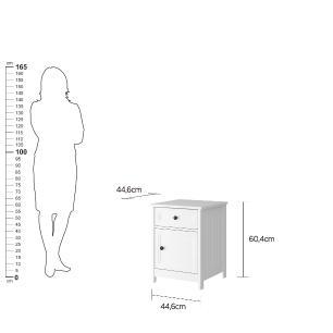 Mesa de Cabeceira Ditália Conjunto com 2 un. DM-114 Branco