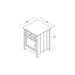 Mesa de Cabeceira Ditália 1 Gaveta 1 Porta DM-114 Branco