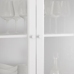 Cristaleira 2 Portas 1 Gaveta Ditália E-954 Branco