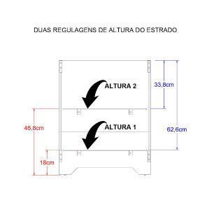 Berço Ditália Multifuncional 3x1 BBI-51 Branco