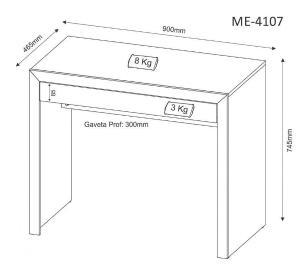 Mesa para Computador ME4107 Carvalho - Tecno Mobili