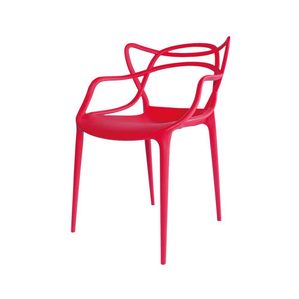 Cadeira Decorativa Amsterdam Vermelho - Facthus