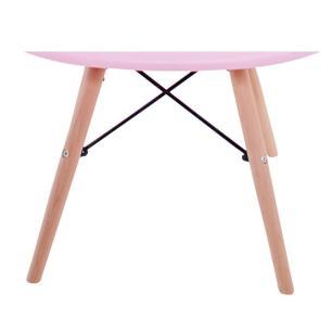 Cadeira Charles Melbourne com Base de Madeira Rosa - Facthus