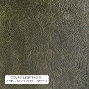 Kit 4 Poltronas Giratória para Sala de Estar Astana Couro/ Verde - Gran Belo